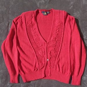 ♦️BOGO 50%Off♦️Red button down sweater
